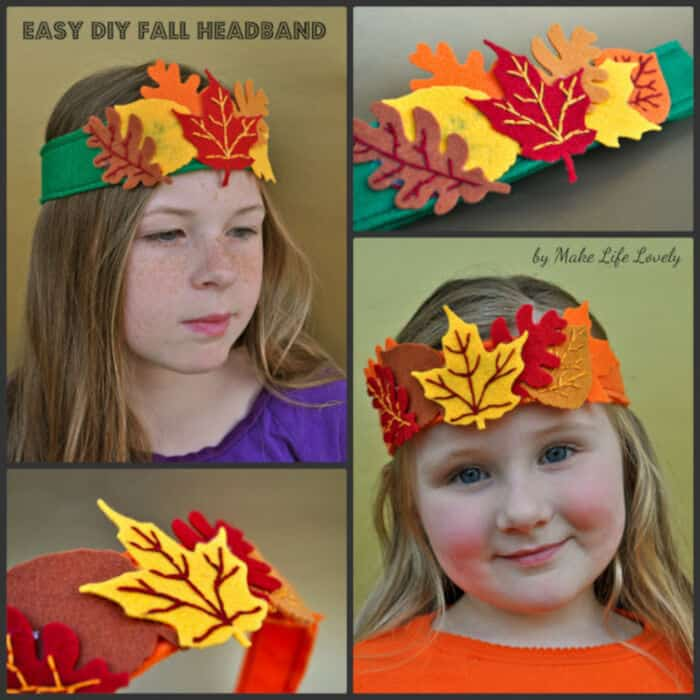 Easy DIY Fall Headband by Make Life Lovely
