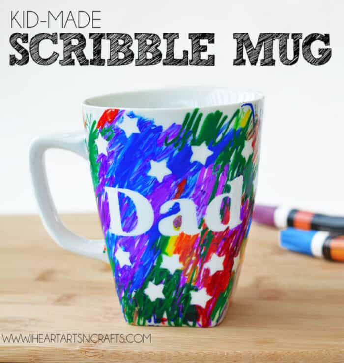 Easy Fathers Day Sharpie Mug by I Heart Arts n Crafts