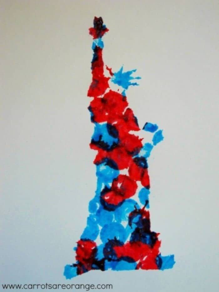 Easy Fourth of July Art Activities for Kids by Carrots are Orange