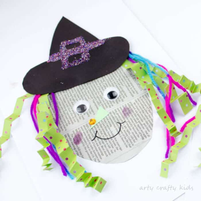 Easy Paper Witch Craft by Arty Crafty Kids