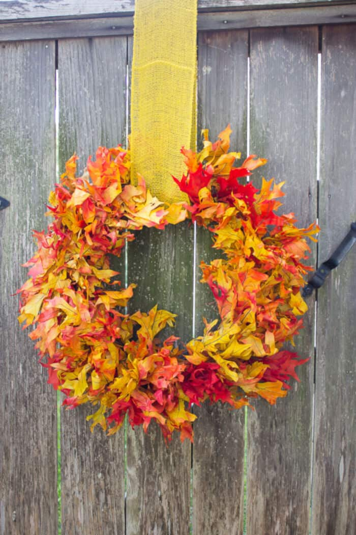 Fall Leaf Wreath by Design Improvised
