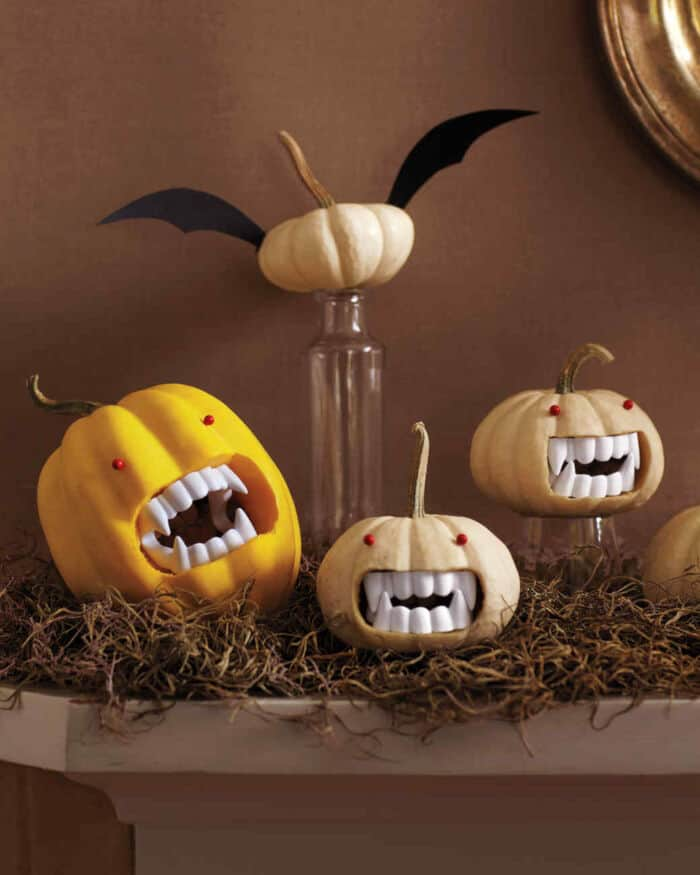Fanged Vampire Pumpkins by Martha Stewart