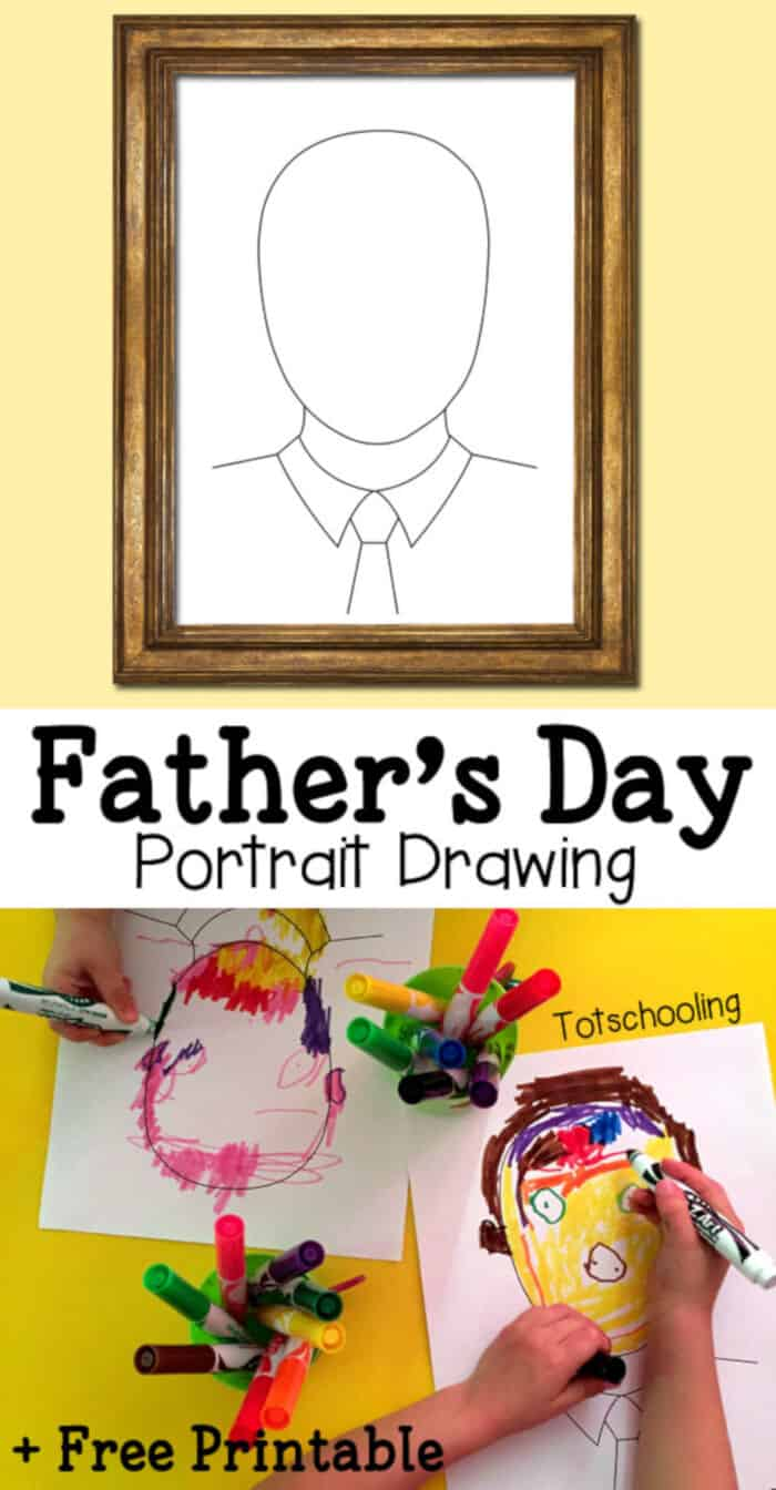 Fathers Day Portrait Drawing by Totschooling