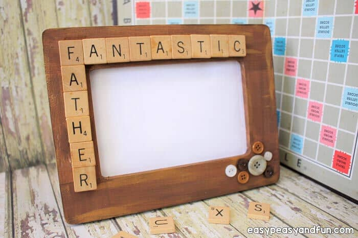 Fathers Day Scrabble Tile Frame by Easy Peasy and Fun