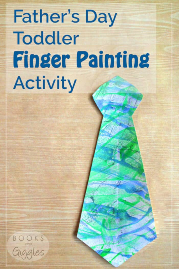 Fathers Day Toddler Finger Painting Activity by Books and Giggles