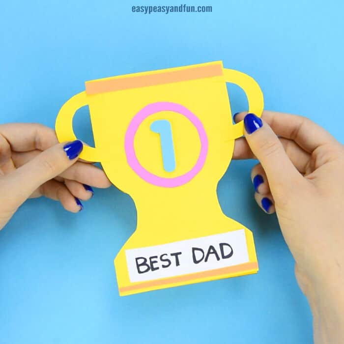 Fathers Day Trophy Card by Easy Peasy and Fun