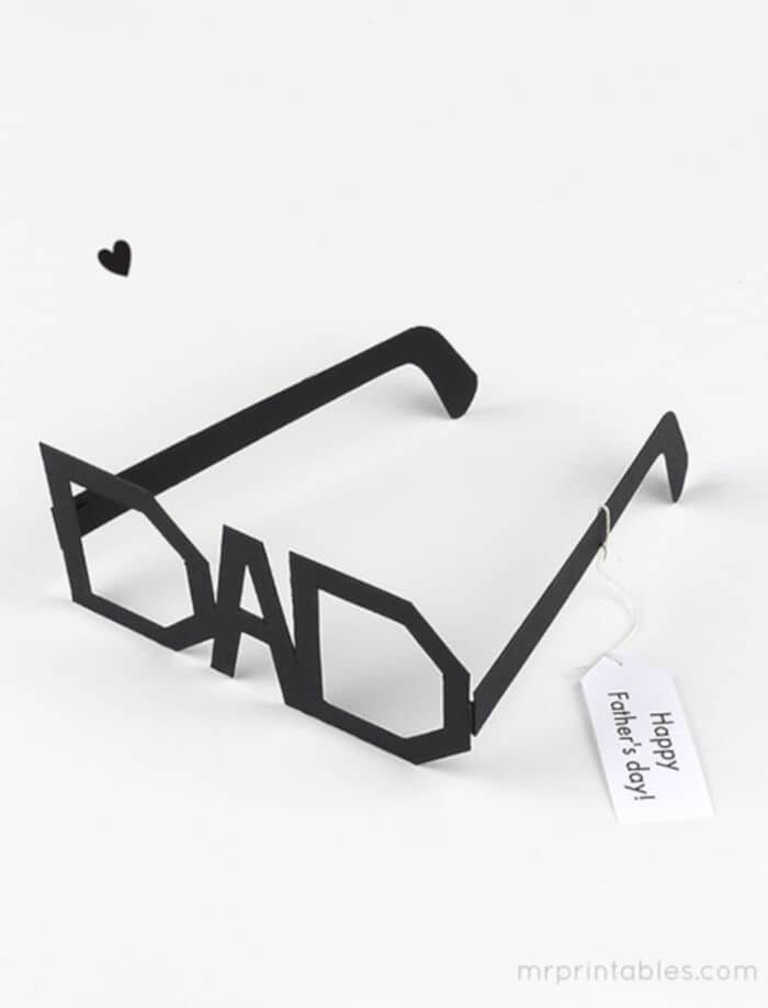 Fathers Day Typography Glasses by Mr. Printables