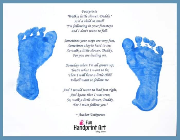 Fathers Footsteps by Fun Handprint Art
