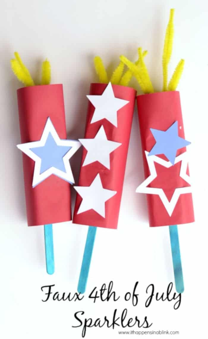 Faux Paper Sparklers by It Happens in a Blink