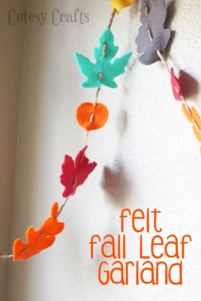 Felt Fall Leaf Garland by Cutesy Crafts