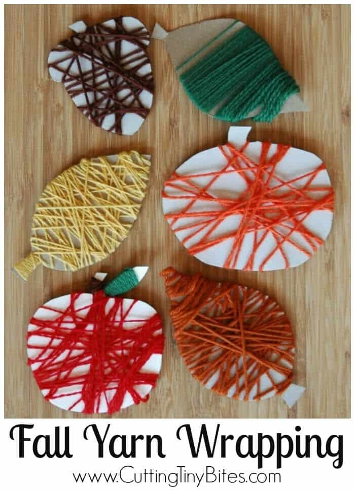 Fine Motor Fall Yarn Wrapping by What Can We Do With Paper and Glue