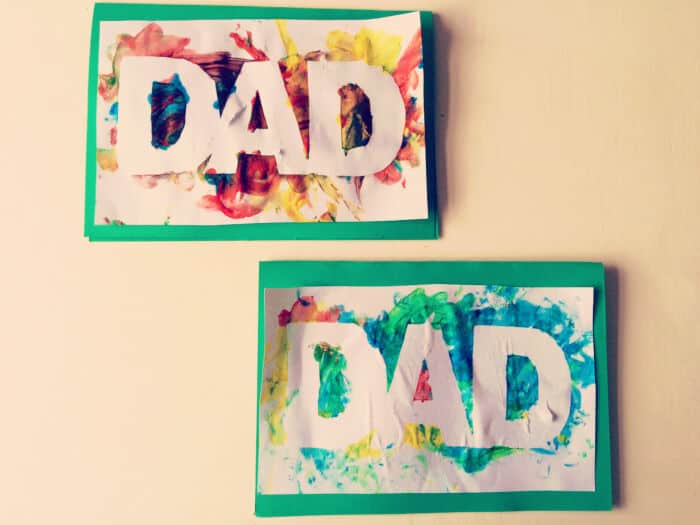 Finger Painted Fathers Day Card by Clares Little Tots