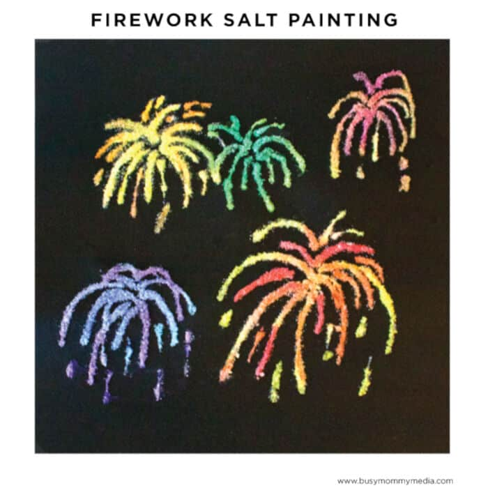 Firework Salt Painting by Busy Mommy Media