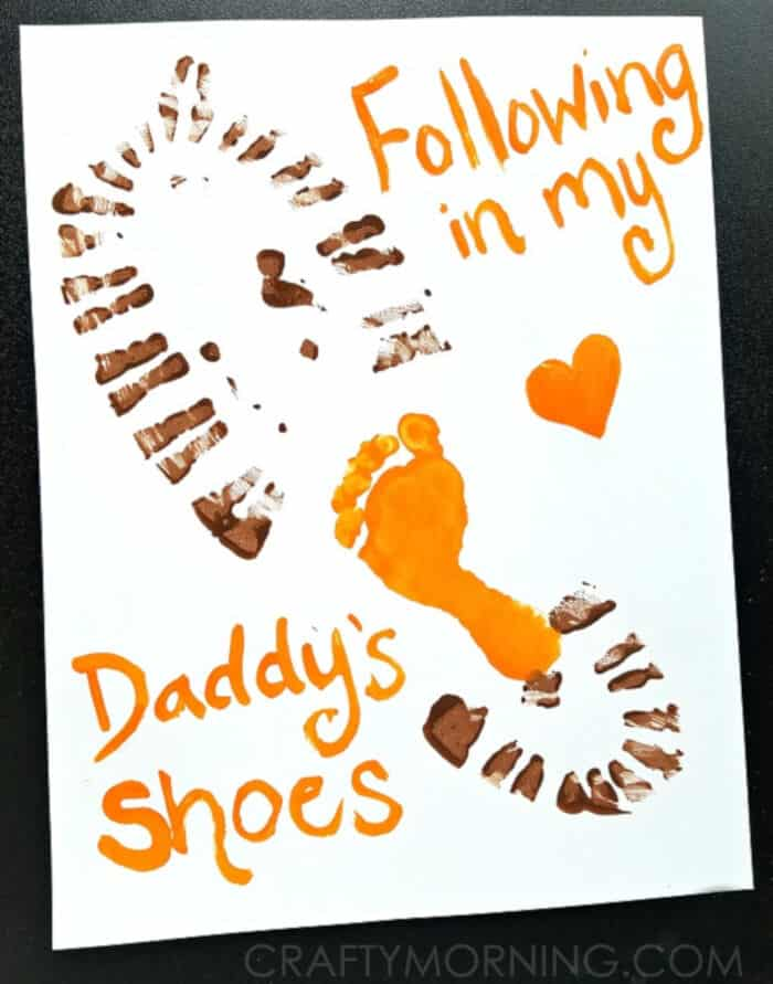 Following in My Daddys Shoes by Crafty Morning