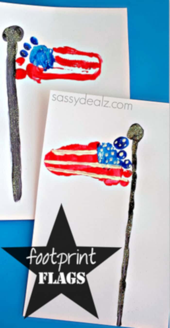 Footprint American Flag by Crafty Morning
