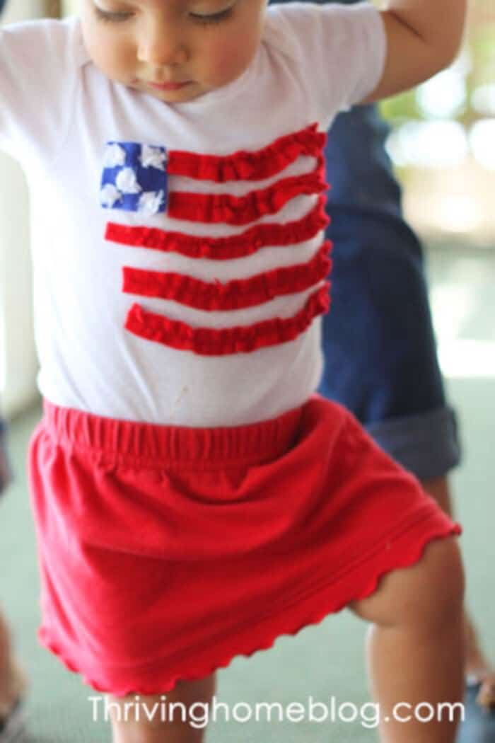 Fourth of July Onesie  by Thriving Home