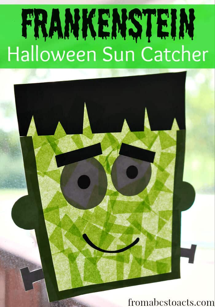 Frankestein Sun Catcher Craft by From ABCs To ACTs