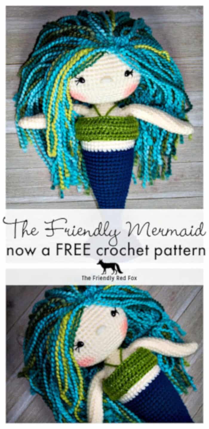 Free-Mermaid-Crochet-Pattern-by-The-Friendly-Red-Fox