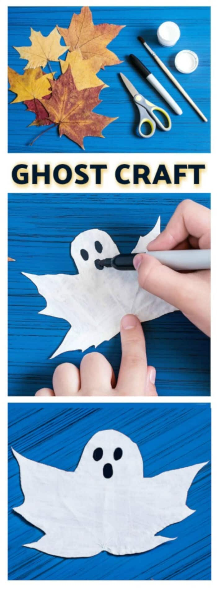 Ghost Craft for Kids by Growing A Jeweled Rose