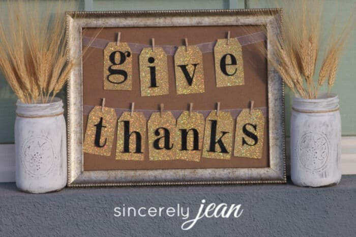 Give Thanks Picture Frame by Sincerely Jean