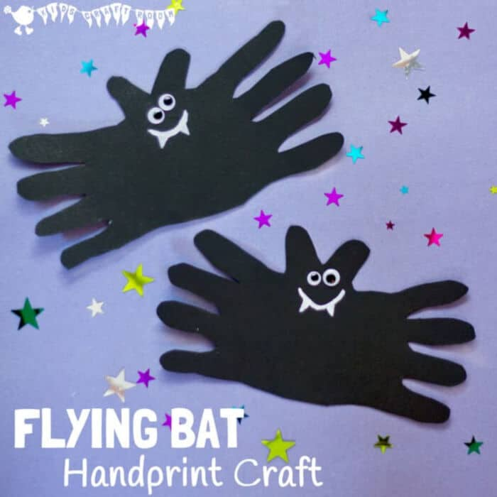 Halloween Bat Handprint Craft by Kids Craft Room
