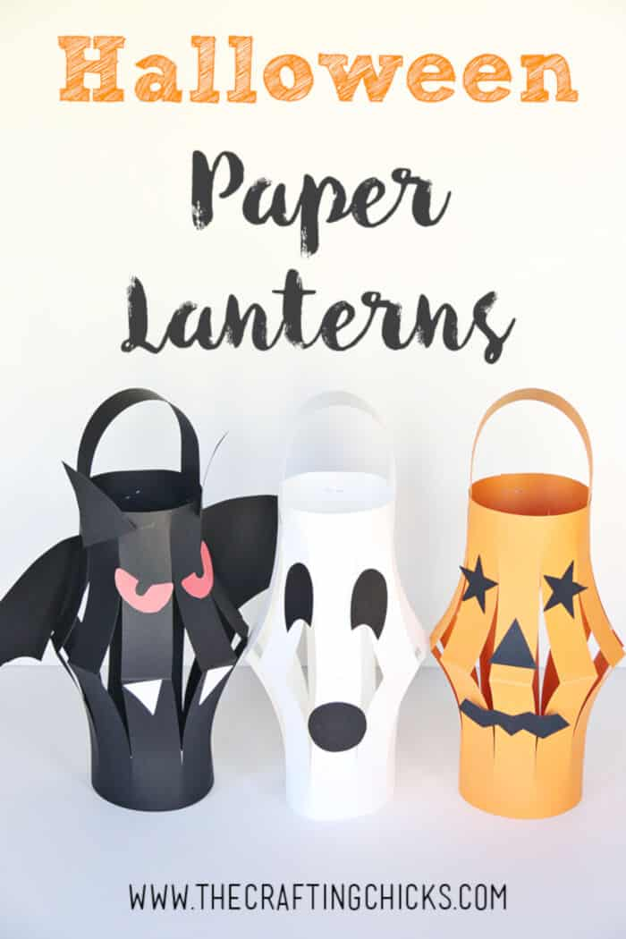 Halloween Paper Lanterns by The Crafting Chicks