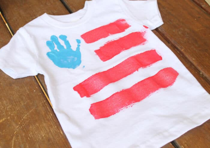 Hand Print Fourth of July Shirts by Thriving Home