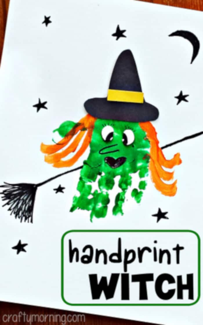 Handprint Witch Craft by Crafty Morning