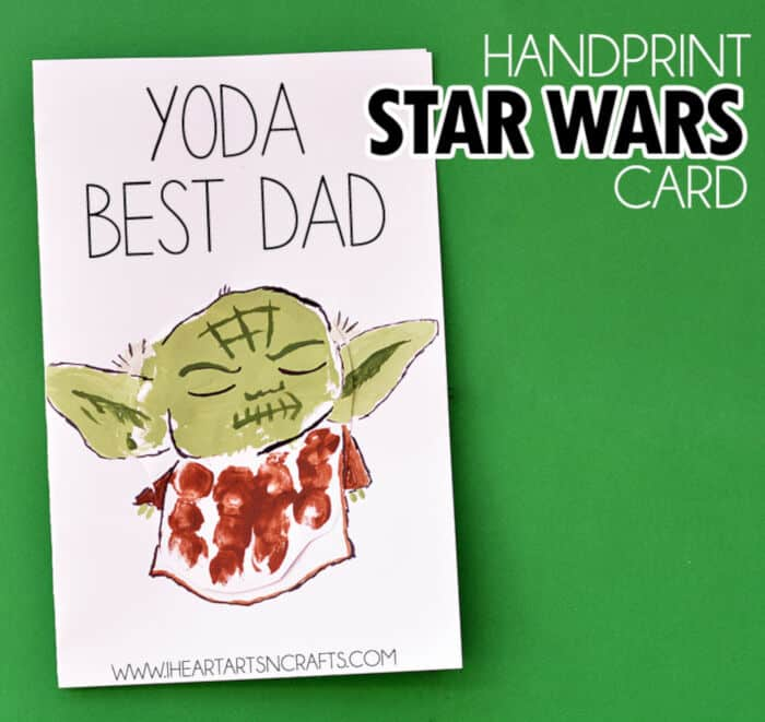 Handprint Yoda Fathers Day Card by I Heart Arts n Crafts