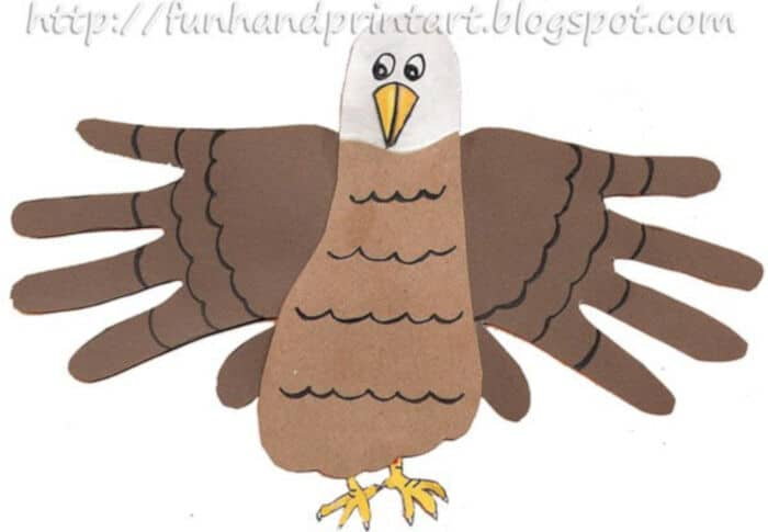 Handprint and Footprint Eagle by Fun Handprint Art