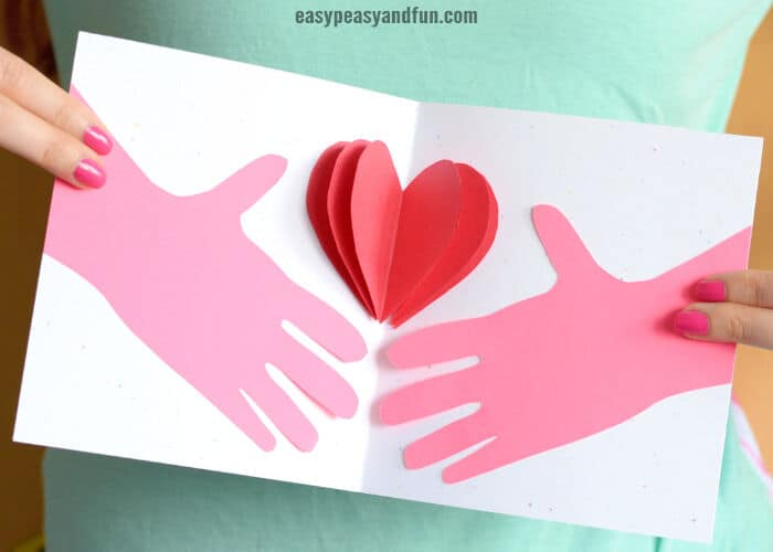 Hands Holding a Heart Mothers Day Card by Easy Peasy and Fun
