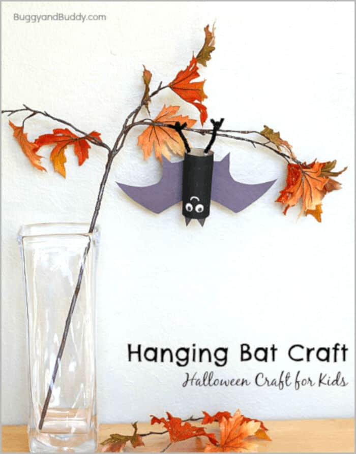 Hanging Bat Craft by Buggy and Buddy