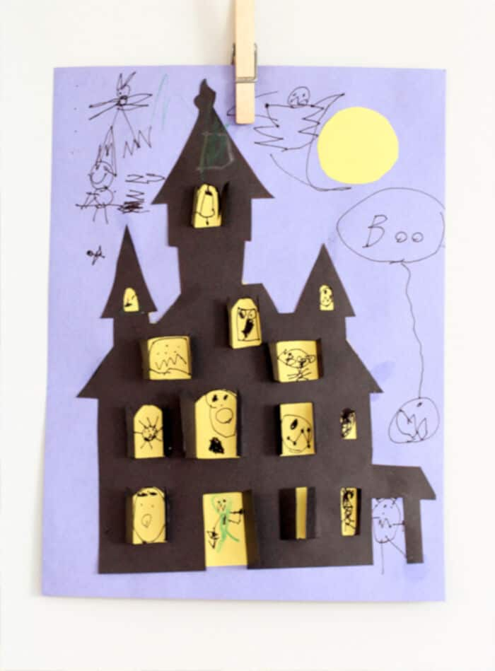 Haunted House Halloween Cut-Out by Sarah Jane Studios
