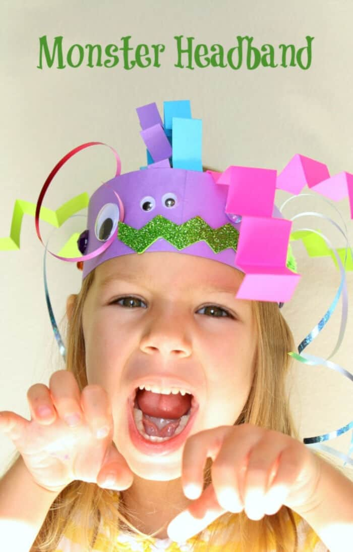 Headband Monster Craft for Kids by Fantastic Fun and Learning