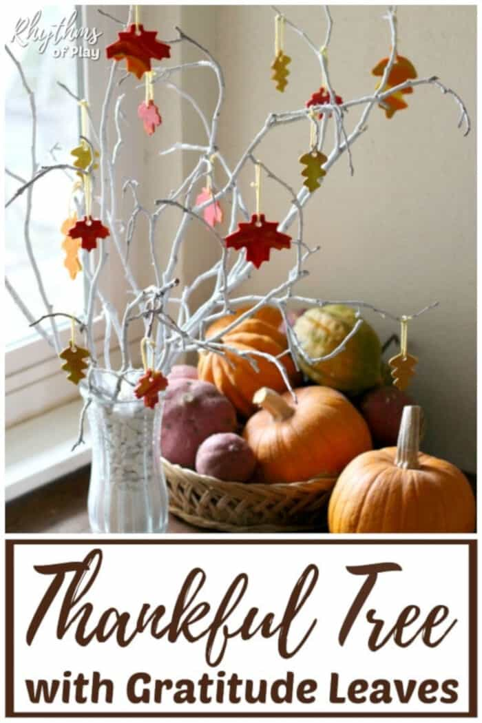 How to Make a Thankful Tree with Clay Gratitude Leaves by Rhythms of Play