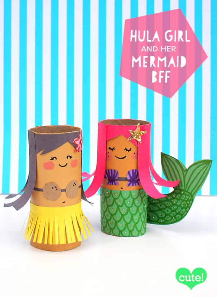 Hula-Girl-and-Her-Mermaid-BFF-by-Molly-Moo-Crafts