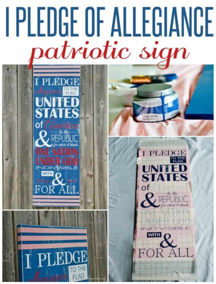 I Pledge of Allegiance Patriotic Sign by Infarrantly Creative