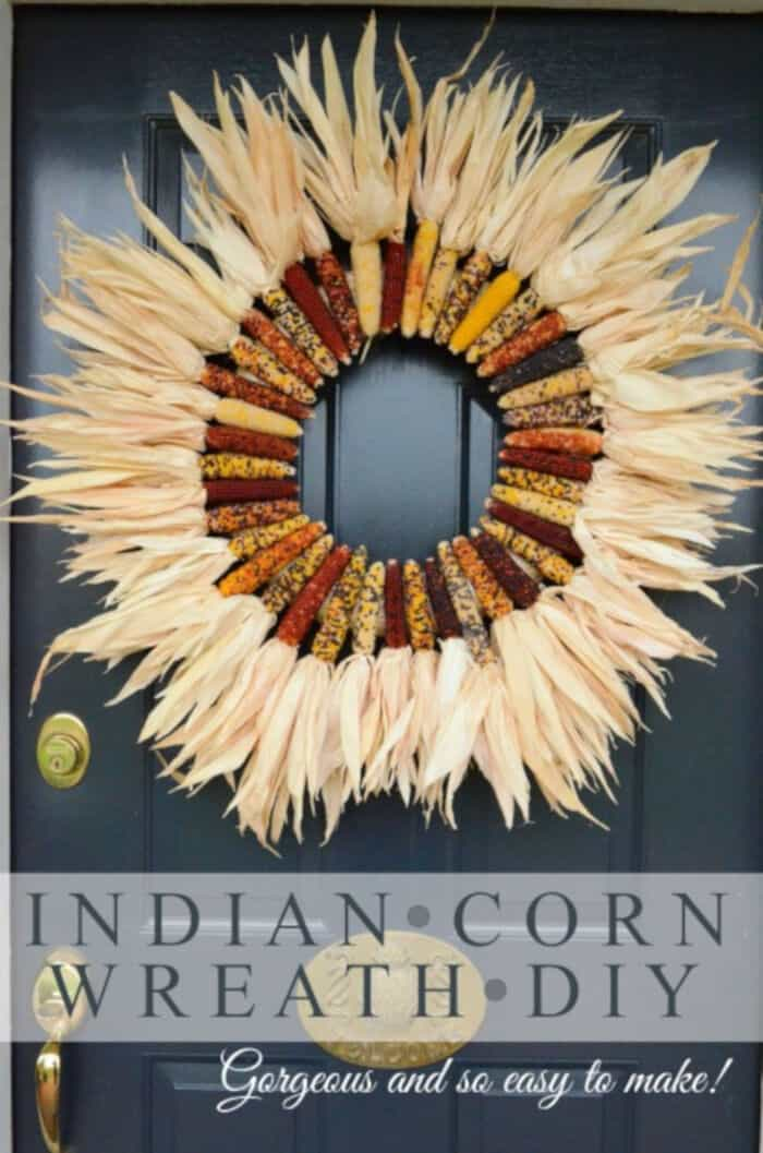 Indian Corn Wreath DIY by Stone Gable