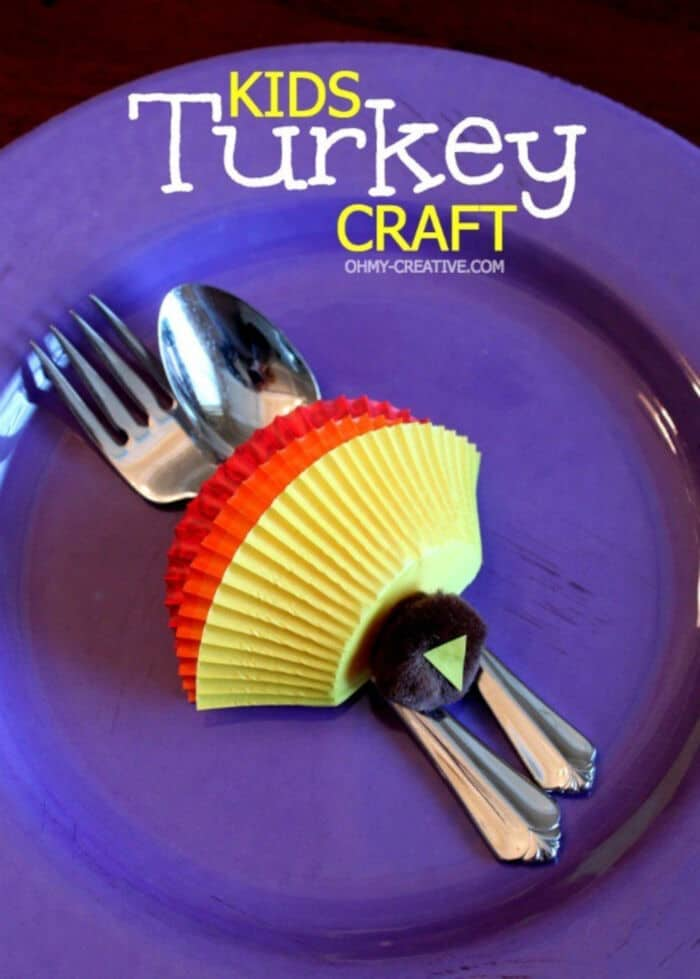 Kids Thanksgiving Turkey Craft by Oh My! Creative