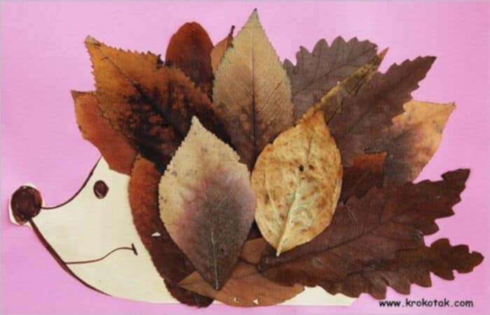 Leaf-Hedgehogs-by-Teachers-Pet