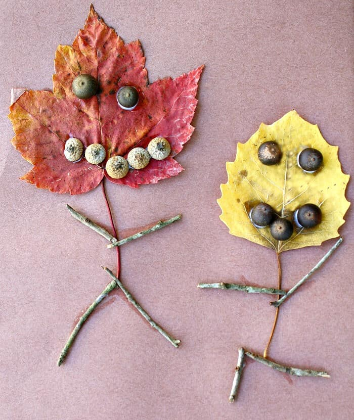 Leaf People Fall Craft by Fantastic Fun and Learning