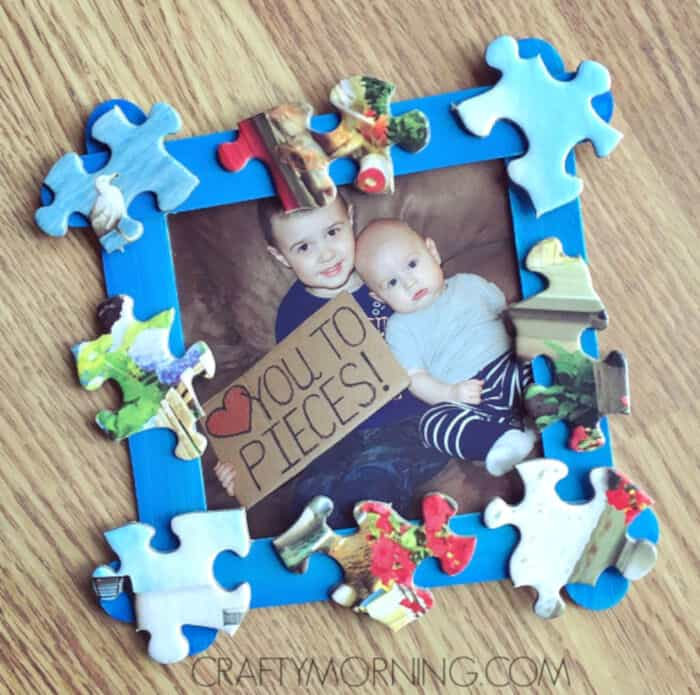 Love You to Pieces Fathers Day Frame Gift by Crafty Morning