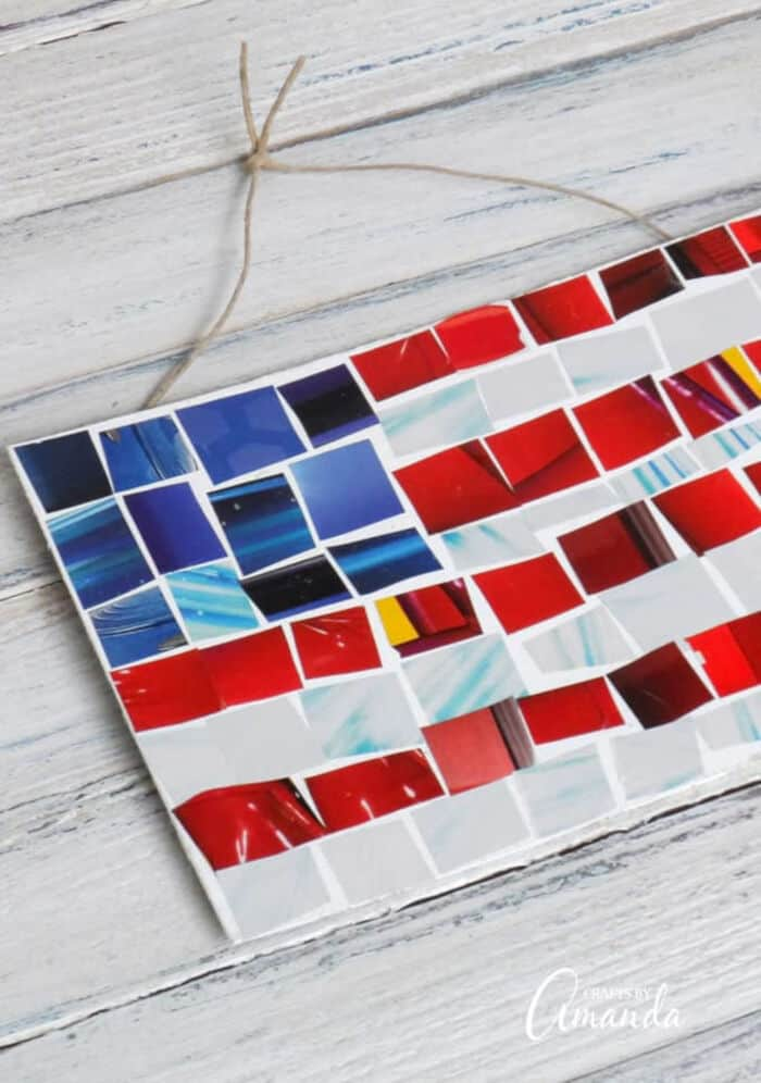 Magazine Mosaic Flag by Crafts by Amanda