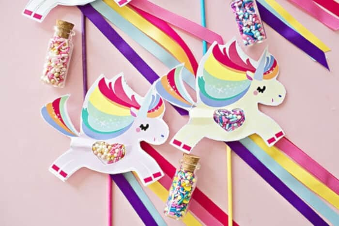 Magical Unicorn Pooping Sprinkles Paper Craft by Hello, Wonderful