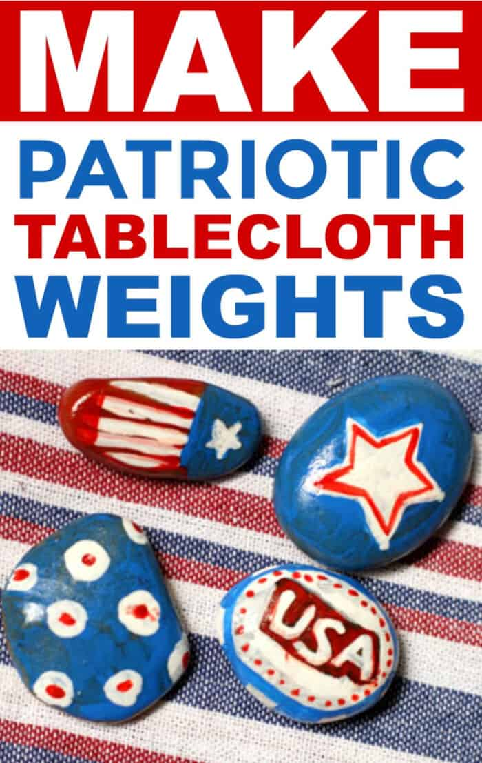Make Patriotic Tablecloth Weights by A Little Craft In Your Day