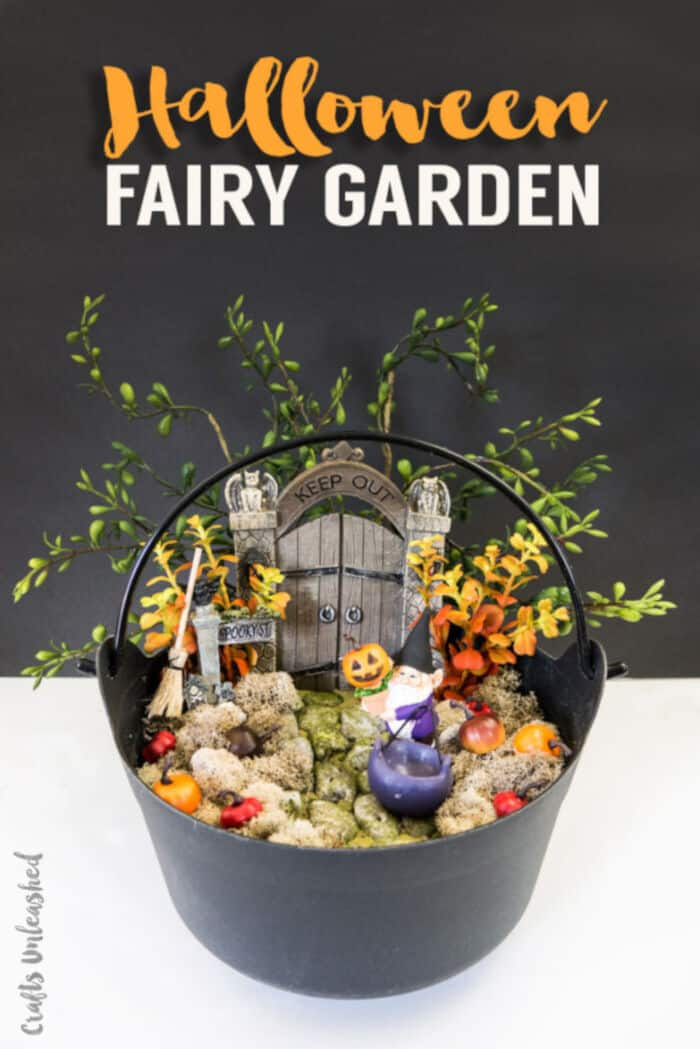 Make Your Own Halloween Fairy Garden by Crafts Unleashed