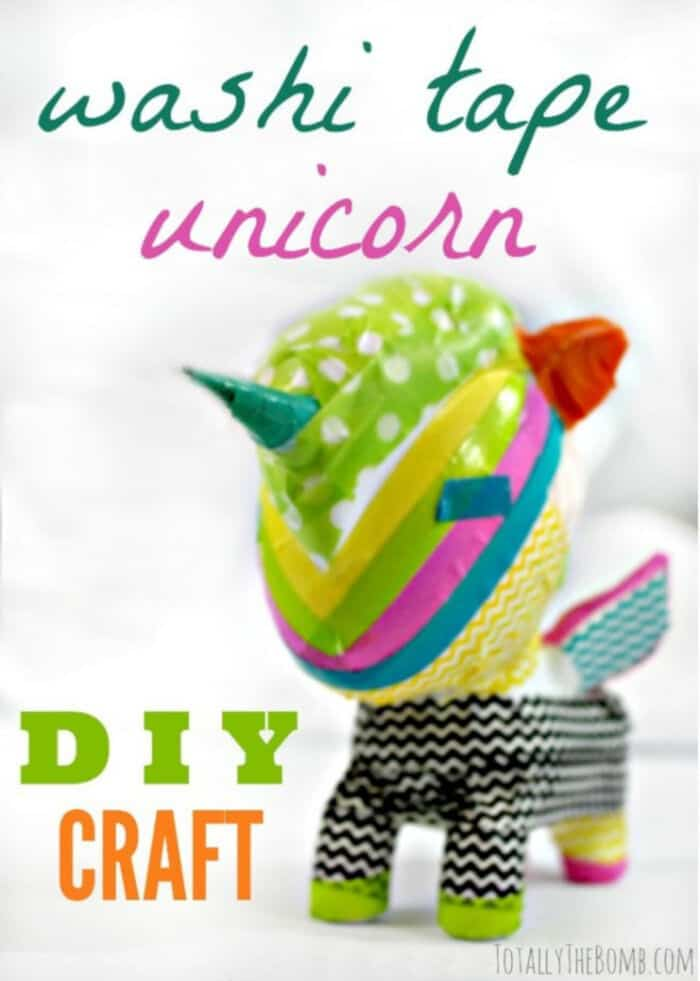 Make a Washi Tape Unicorn by Totally The Bomb