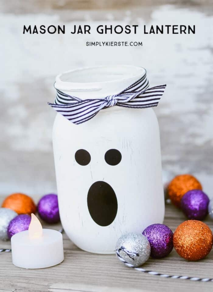 Mason Jar Ghost Lantern by Old Salt Farm