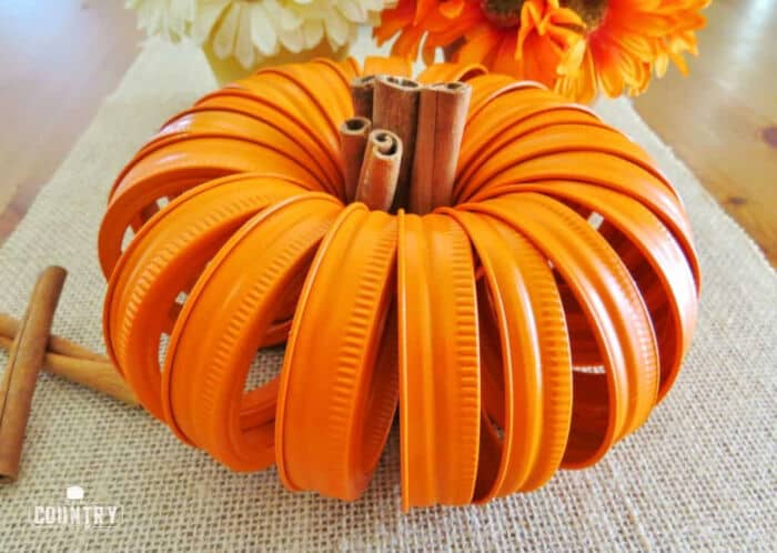 Mason Jar Lid Pumpkins by The Country Cook