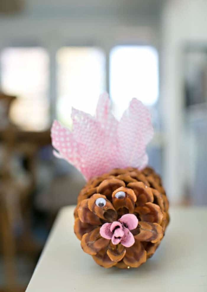Modern Pink Pine Cone Turkey by Hello, Wonderful